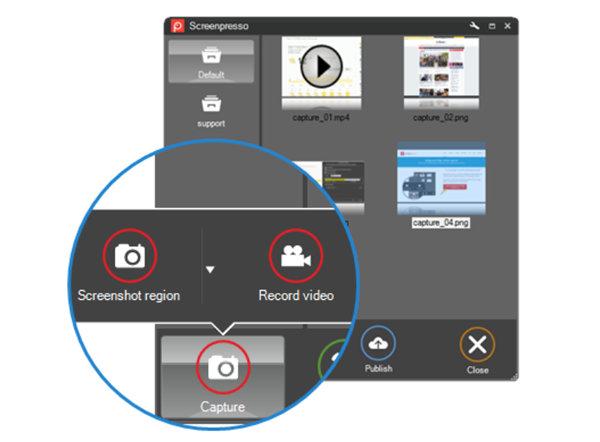 Screenpresso – создание снимка с извлечением текста