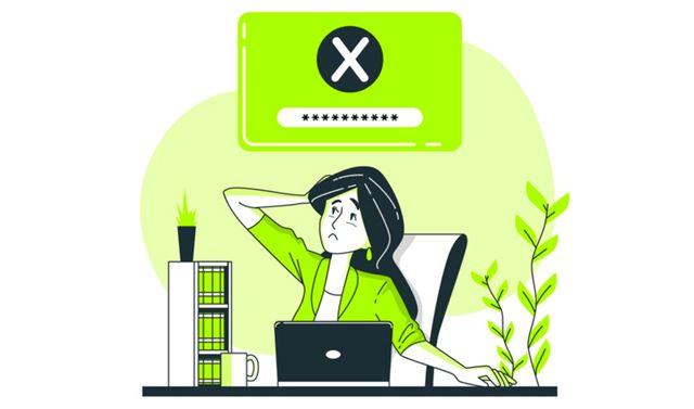 Иллюстрация на тему забытого пароля для входа на веб-сайт