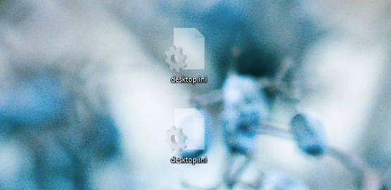 Пример файло desktop ini на рабочем столе системы Windows 10