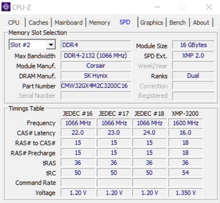 Получение детализированной информации о планках оперативной памяти