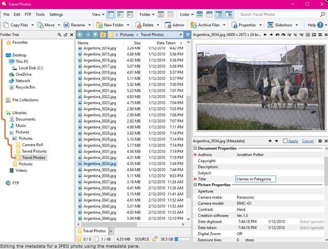Directory Opus может переименовывать или перемещать сразу несколько файлов