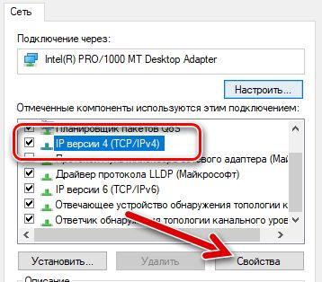 IP версии 4 настройка свойств