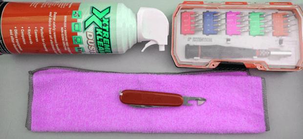 Набор инструментов для спасения ноутбука от воды