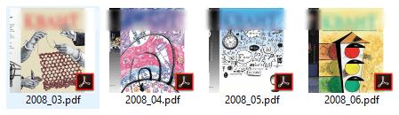 Пример PDF файлов в проводнике Windows