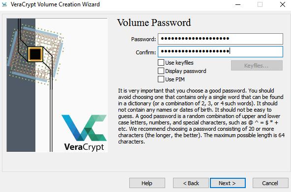 Создадим защищенную папку с помощью VeraCrypt