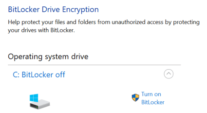 Отсутствие BitLocker в системе Windows 10 Home
