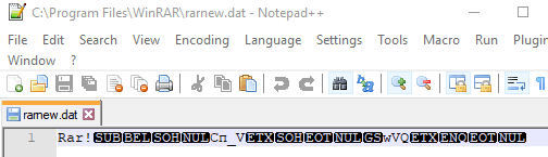 DAT-файл без текстового содержания