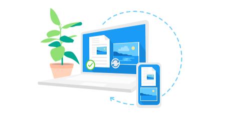 OneDrive синхронизирует рабочие папки с файлами на Windows
