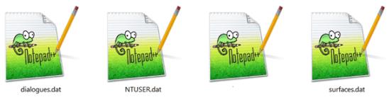 Примеры DAT-файлов в системе Windows