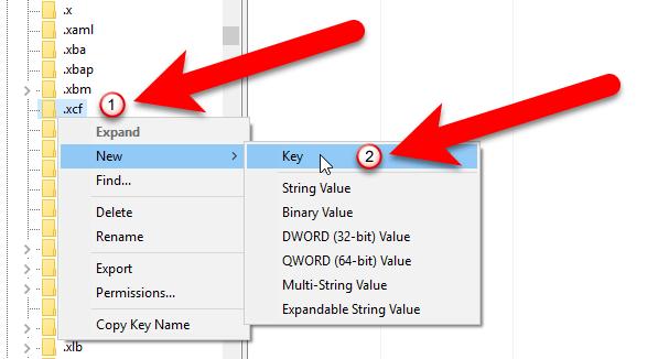 Расширение файлов GIMP в реестре Windows