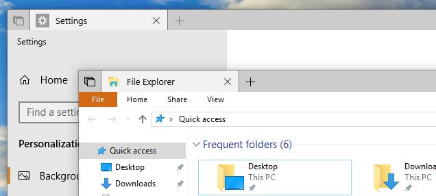 Серые размытые границы окон в Windows 10 Redstone 5
