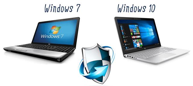 Сравнение защиты систем Windows 7 и Windows 10