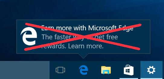 Пример всплывающего уведомления в панели задач системы Windows 10