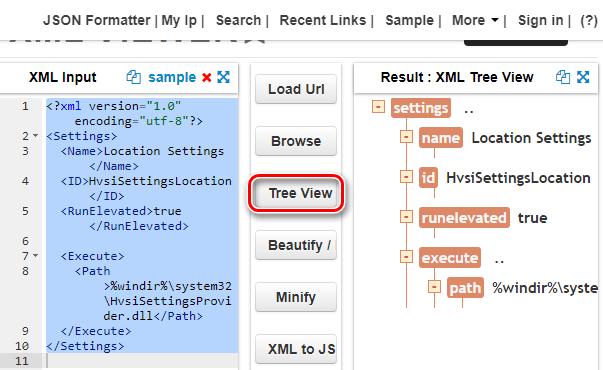 Редактирование и просмотр XML-файла в онлайн-редакторе