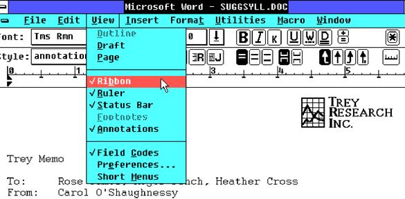 Microsoft Word использует формат файла DOC более 30 лет