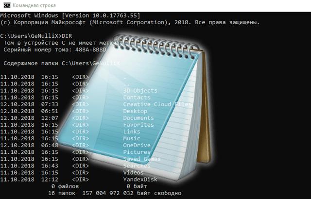 Вывод данных из командной строки в текстовый файл системы Windows