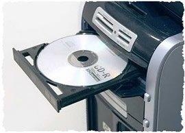 Чистый DVD-привод компьютера