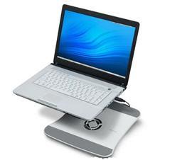 Ноутбук на охлаждающей подставке