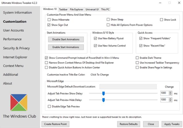 Оптимизация Windows с помощью инструмента Windows 10