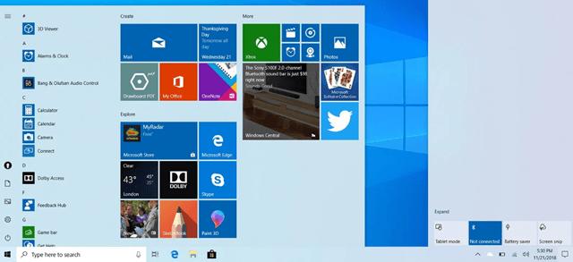 Обновление основной темы оформления Windows 10