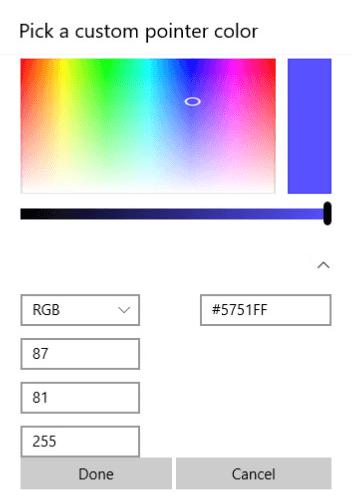 Настройка оригинального цвета для курсора мыши Windows