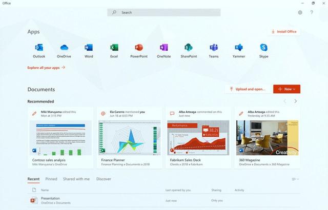 Новое приложение для управление Office в Windows 10