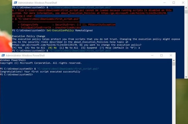 Работа со скриптами в инструменте PowerShell Windows 10