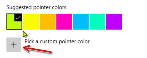 Выбираем цвет для курсора мыши из набора