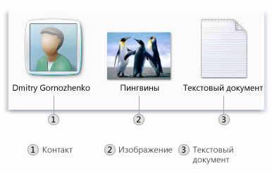 Значки некоторых типов файлов в системе Windows