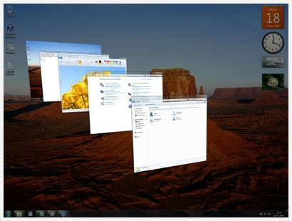Объемное пролистывание программных окон в Aero Windows