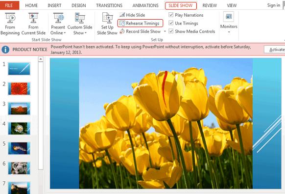 Настройка слайд-шоу для экрана компьютера через Windows