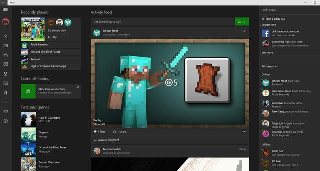 Окно приложения Xbox магазина приложений Windows