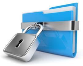 Папка с файлами защищенная замком