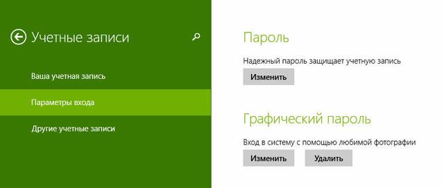 Установка графического пароля для Windows 8.1
