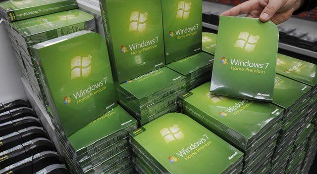 Склад с лицензионными копиями Windows 7